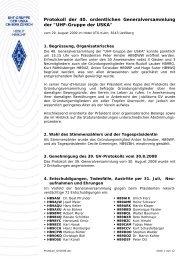 Protokoll 40. GV / 2009 - UHF-Gruppe der USKA