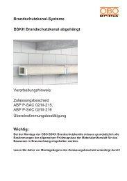 Zulassungsbescheid ABP P-SAC 02/III-215, ABP ... - OBO Bettermann