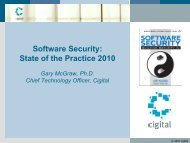 Software Security: State of the Practice 2010 - Secure Application ...