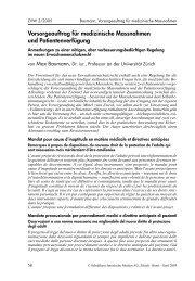 Vorsorgeauftrag für medizinische Massnahmen und ... - VBK-CAT