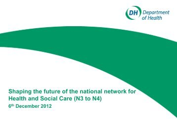 Existing N3 High Level - NHS Connecting for Health