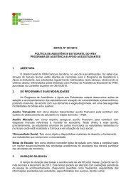 Confira o edital - IFBA Jacobina