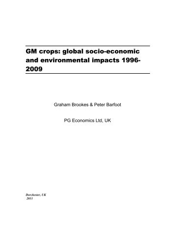 global socio-economic and environmental impacts 1996- 2009