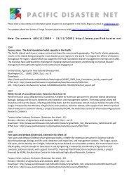 1 New Documents (09/11/2009 - 15/11/2009) http://www ...