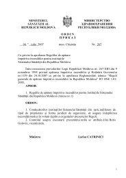Ordin nr. 267 din 04.07.08 cu privire la aprobarea Regulilor de ...