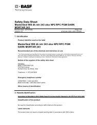 NP2 Dark Mortar MSDS - Brock White