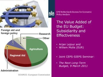 The Value Added of the EU budget: subsidiarity and effectiveness