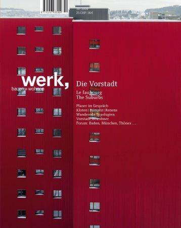 Werk, Bauen + Wohnen 10/2010 - IRAP - HSR Hochschule für ...