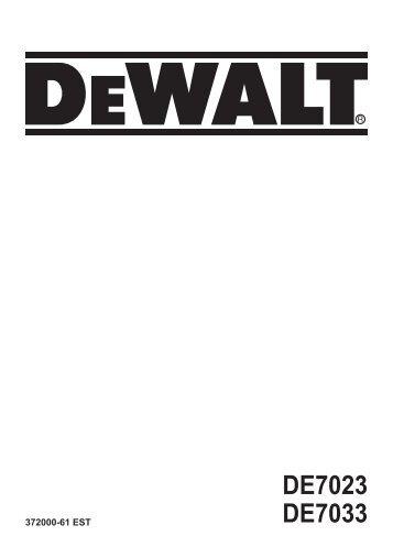 DE7023 DE7033 - Service - DeWalt