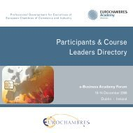 Participants & Course Leaders Directory - Eurochambres Academy