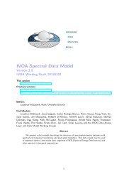 IVOA Spectral Data Model