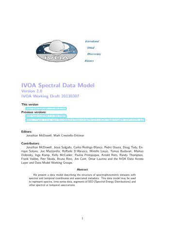 IVOA Spectral Data Model