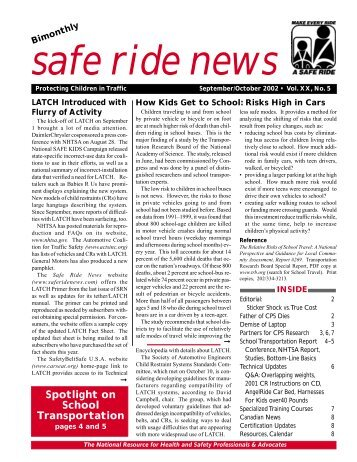 Jan-Feb 2000 - Safe Ride News