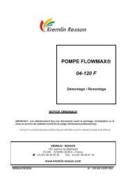 POMPE FLOWMAX® 04-120 F - Kremlin Rexson
