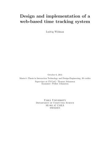 Design and implementation of a web-based time tracking system