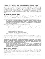 5. James 5 of a Verse by Verse Study of James, 1 ... - Gospel Lessons