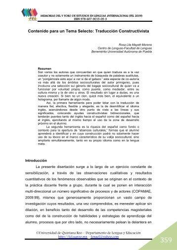 Traducción Constructivista - Foro de Estudios en Lenguas ...