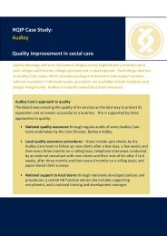 HQIP Case Study: Audley Quality improvement in social care