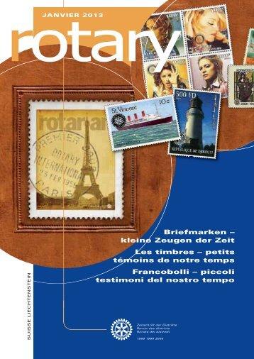 Briefmarken – kleine Zeugen der Zeit Les timbres ... - Rotary Schweiz