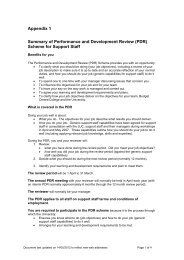 summary of PDR scheme for support staff (PDF - 75KB)