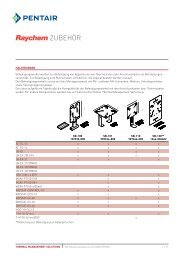 Datasheet Raychem Industrial Accessories - Pentair