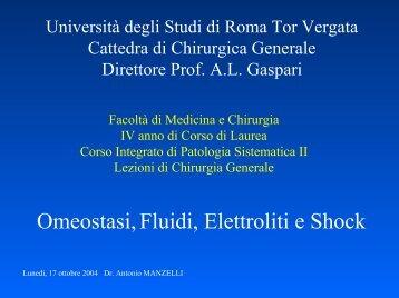 Omeostasi - Cattedra Chirurgia Tor Vergata