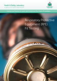 Respiratory Protective Equipment - Health and Safety Laboratory