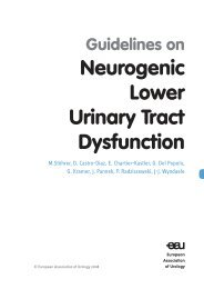 Neurogenic Lower Urinary Tract Dysfunction - European Association ...
