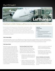 OutStart LCMS Helps Lufthansa Go the Extra Miles & More