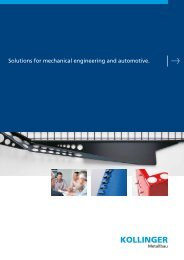 Solutions for mechanical engineering and automotive. - Kollinger ...