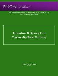 Report - University Center for Regional Economic Innovation