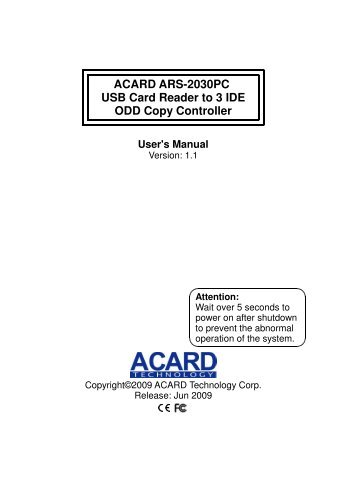 ACARD ARS-2030/L DRIVERS FOR WINDOWS XP