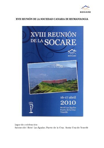 XVIII REUNIÓN DE LA SOCIEDAD CANARIA DE REUMATOLOGIA