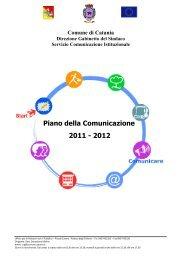 piano di comunicazione 2011-2012 - Comune di Catania