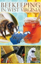Beekeepingin WV-NEW.indd - West Virginia Department of Agriculture