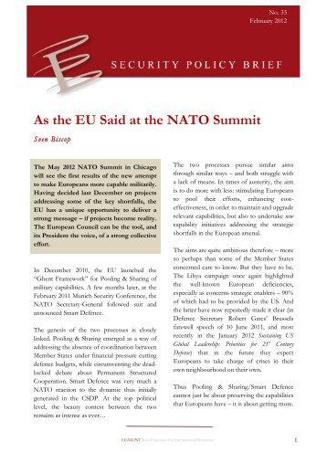 As the EU Said at the NATO Summit