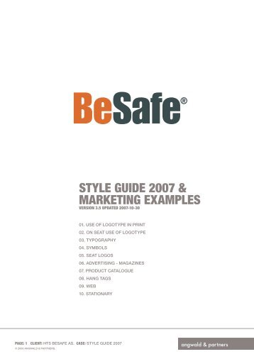 STYLE GUIDE 2007 & MARKETING EXAMPLES - hts.no