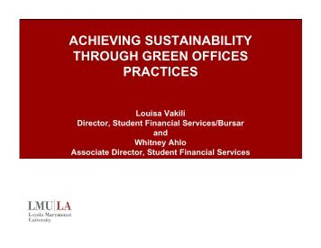 achieving sustainability through green offices practices - NACUBO