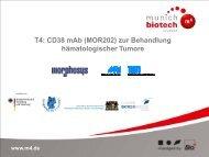 T4: CD38 mAb (MOR202) zur Behandlung ... - Der Cluster