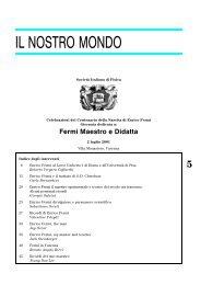 3-Il nostro mondo 5..98 - Società Italiana di Fisica