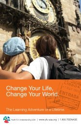 Change Your Life, Change Your World. - Youth For Understanding ...