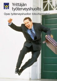 Yrittäjän työterveyshuolto - Opas työterveyshuollon ... - Syty2000