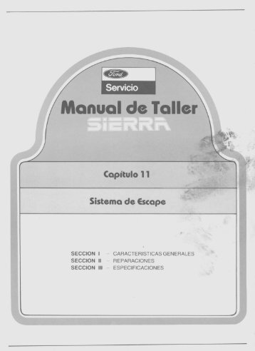 Sistema de Escape - Ford Sierra Net