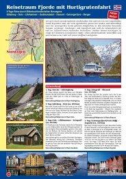 Reisetraum Fjorde mit Hurtigrutenfahrt