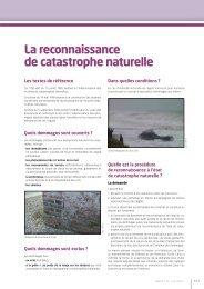 La reconnaissance de catastrophe naturelle - Les services de l'État ...