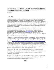 Hankesuunnitelma - Yhteiskuntatieteellinen tietoarkisto