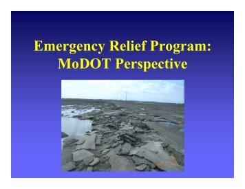 Emergency Relief Program: MoDOT Perspective