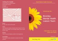 Bromley Mental Health Liaison Team - Oxleas NHS Foundation Trust