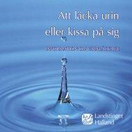 Att läcka urin eller kissa på sig - Region Halland