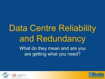 Data Centre Reliability and Redundancy - Server Racks Australia